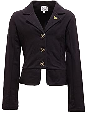 1615T giacca bimba ARMANI JUNIOR cotone garzato blu jacket kid