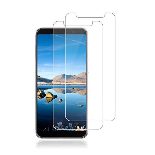 LONROL Panzerglas Schutzfolie für Asus Zenfone Max Pro M1,[2 Stück][9H Härte][Anti-Kratzen] [Anti-Fingerabdruck][2.5D R&e][HD Klar] Folie für Asus Zenfone Max Pro M1