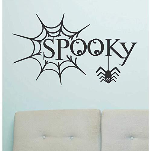 Halloween dekoration geisterspinnennetz feier urlaub schlafzimmer tür tapete kinder applique vinyl aufkleber dekoration 43x76 CM