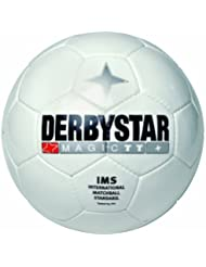 Derbystar Magic TT - Balón de fútbol, color blanco, talla 5