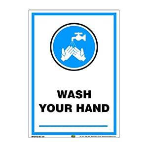 Mr. Safe – Wash Your Hand Sign PVC Sticker A3 (11.7 inch X 16.5 inch)