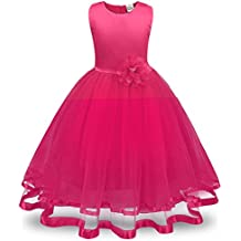 beaa18d15c57b DAY8 Robe Fille Cérémonie Mariage Princesse Robe Fille 3-9 Ans a la Mode Été
