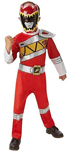 Kostüm - Red Power Ranger Dino Charge Deluxe Child - Jungs Größenwahl (Large) (Red Ranger Deluxe Kostüm)