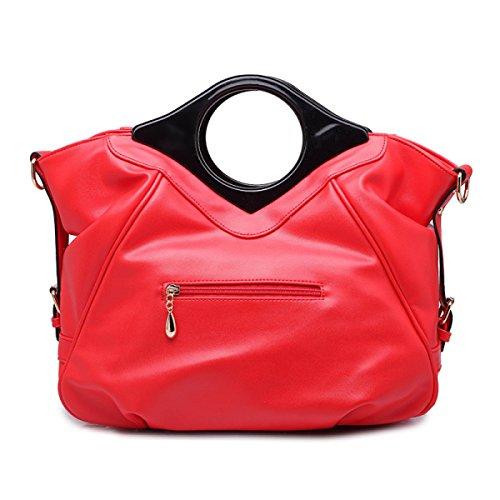 QPALZM QPALZM Frau Handtasche Freizeit Messenger Bag Mode Blume Reißverschlüsse Geschlossen Multifunktions Blue