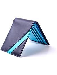 Boca Cartera de Piel de Hombre Ultra Fina con Protección RFID, Funda para Tarjetas de Crédito, Diseño Minimalista Hecho a Mano