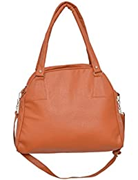 Desi Satchels Girl's Handbags - Best Fit For Office Use & Married Women's (Tan Colour, Large Handbags)