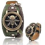 Sports Watches Montres Hommes Montre-Bracelet en PU avec Bracelet en Cuir et tête de...