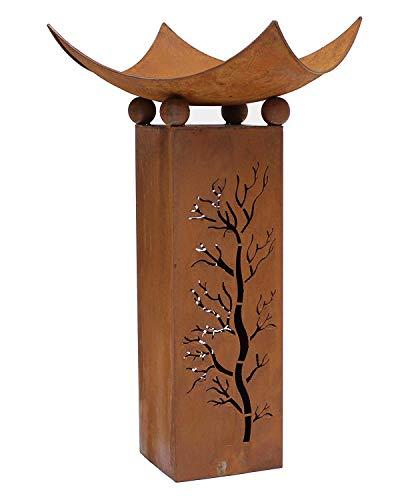 Design-Feuerschale mit Dekosäule - 3