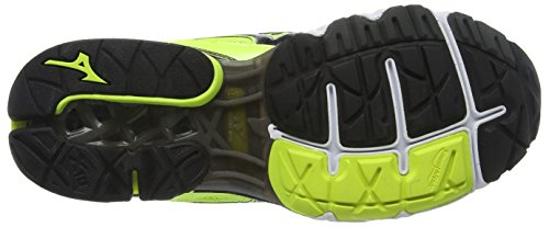 Mizuno Wave Creation 18, Chaussures de Running Compétition homme Jaune - Yellow (Safety Yellow/Black/Silver)