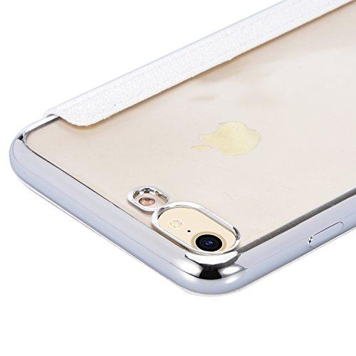 iPhone 8/iPhone 7 Custodia Pelle Folio e Glitter Bling Strass 3D DIY con Cinghie di telefono - Bonice Case Fatto a Mano Diamonte,PU Leather Con Super Sottile TPU Cover Interno,Morbido Protettiva Porta model 05