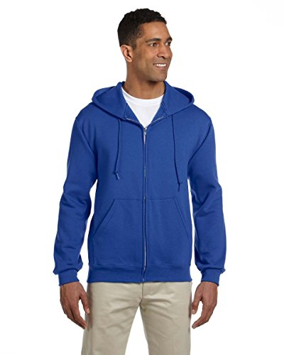 Jerzees Nublend con cappuccio e zip intera con cappuccio da felpa con cappuccio, colore: Blu navy Royal