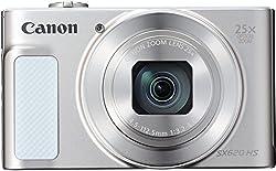 Canon Powershot Sx620 Hs Digitalkamera (20,2 Megapixel, 25-fach Optischer Zoom, 50-fach Zoomplus, 7,5cm (3 Zoll) Display, Opt Bildstabilisator, Wlan, Nfc) Silber