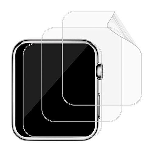 JETech 3 Stück 42mm TPE Ultra HD Bildschirm Schutzfolie für Apple Watch 42mm Serie 3 Serie 2 Serie 1