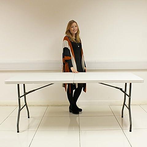 6FT HEAVY DUTY PLASTIC & FOLDING TABLE OUTDOOR BANQUET TRESTLE