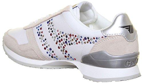Gola Classics Esprit Jewel pour femme Baskets en Daim en cuir Blanc - White L19