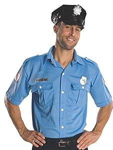 Disfraz de policía para hombre, camisa y accesorios, Talla única adulto (Rubie