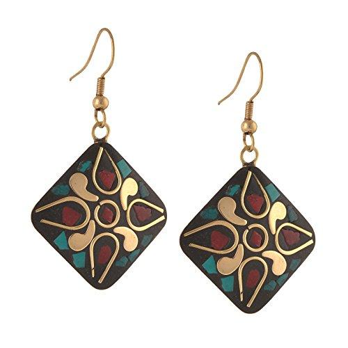 Zephyrr Fashion Junk Lightweight Tibetan Hook dangler Earrings for Women  available at amazon for Rs.139