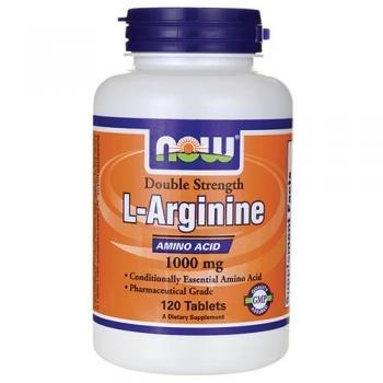 NOW FOODS L-Arginine 1000mg Free Form 120 compresse