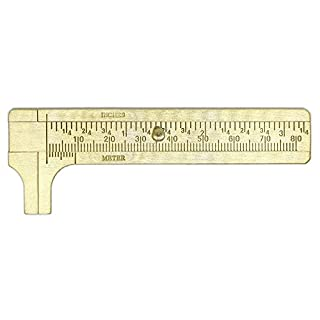 GEZICHTA Vernier Caliper Ruler, Copper Mini Vernier Calipers 80mm/100mm/120mm Sliding Gauge Measure Ruler 1 Pc (80mm)