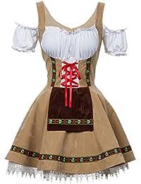 Disfraz de Bavara Oktoberfest para Mujer Camarera Criada Disfraz