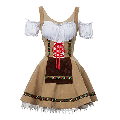 Disfraz de Bavara Oktoberfest para Mujer Camarera Criada Disfraz Talla XXL