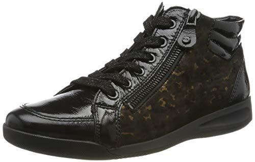 ARA Damen ROM 1244407 Hohe Sneaker, Schwarz (Schwarz 14), 37 EU