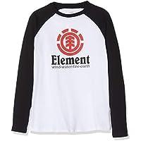 Element Vertical Raglan Tops de Manga Larga, Niños, Blanco (Optic White), 16