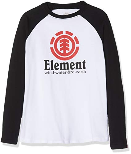 Element Vertical Raglan Tops de Manga Larga, Niños, Blanco...