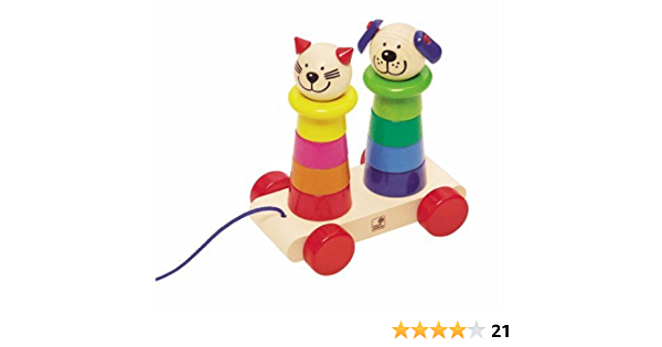 Selecta Spielzeug spielzeugk/äfer Rollina junior 3 x 1 cm Holz rosa//gr/ün