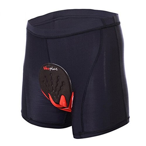 ALLY Fahrradhose mit 3D COOLMAX Sitzpolster Herren Radfahren Fahrrad Unterwäsche Shorts (XXL) (Shorts Adidas Spandex)