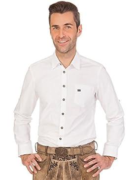 Spieth & Wensky Trachtenhemd Langarm - GRASDORF - Weiß