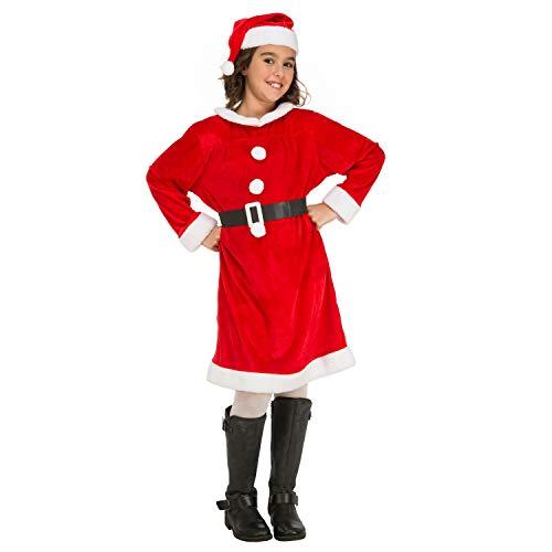 My Other Me Brustkrebs Weihnachtsmann-Kostüm für Mädchen (viving Costumes) 5-6 (Weihnachtsmann Kostüm Für Mädchen)