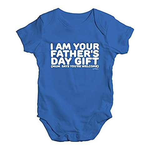 Twisted Envy Baby Unisex I Am Your Father's Day Gift Cute Infant Bodysuit Baby Grow Baby Romper 0 - 3 Months Royal