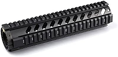 10pulgadas de longitud media sin flotador Ferroviario mm) parte superior Picatinny rieles sistema de mano para rifle