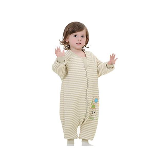 1bd9f663bd62f Happy Cherry Pyjama Bébé Enfant Fille Garçon Grenouillère en Coton Manche  Longue Sac de Couchage Couverture ...