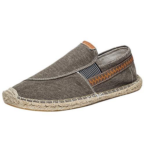 YU'TING ☀‿☀Unisex Uomo Donna Durevole Casuale Loafers Scarpe Moda Tinta Unita Espadrillas Basse Scarpe Slip On Flats Espadrillas Unisex - Adulto