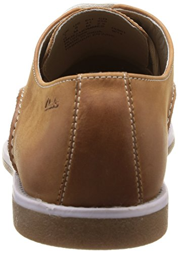 Clarks Farli Walk, Chaussures de ville homme Marron (Tan Leather)