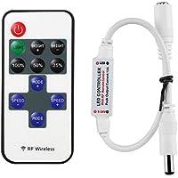 LitaElek Monocromo LED Cinta Tira de LED Controlador DC 5V-24V Mini Controlador LED w