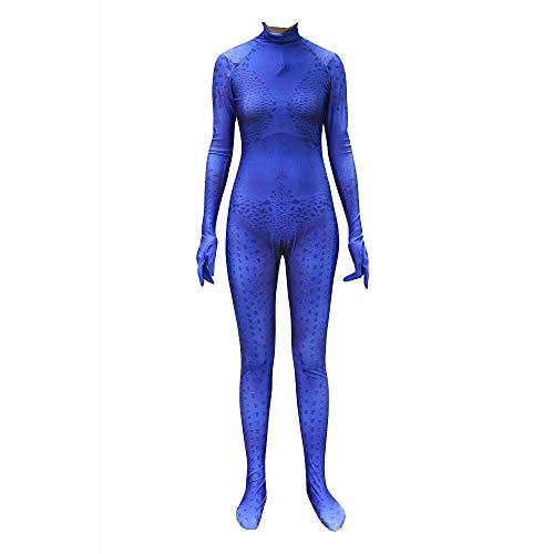 werty Cosplay Kleidung X-Men Blue Spotted Devil Cosplay Kostüm Lycra Anime Kostüm 3D Digitaldruck Enge Weihnachten Halloween Kostüm Für Erwachsene Tragen - Blue Devils Kostüm