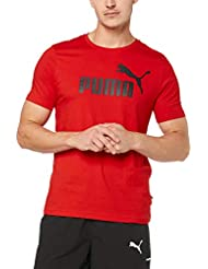 Puma Ess Logo Maglietta, Uomo, Rosso (Red), M