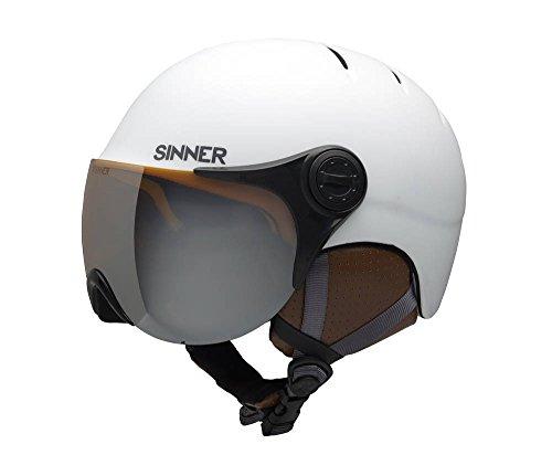 Sinner Crystal Casque de Ski Unisexe, Couleur Blanc, Taille l (60 cm)