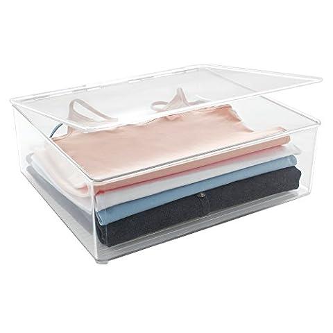 Attache Pour Vetement - mDesign boîte de rangement pour chemises, chemisiers,
