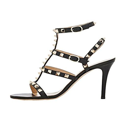 EKS Damen Sexy Fashion Damen Sandaletten Gladiator Schuhe -
