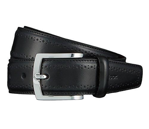 Windsor. Gürtel Herrengürtel Ledergürtel Schwarz 4466, Länge:105 cm, Farbe:Schwarz