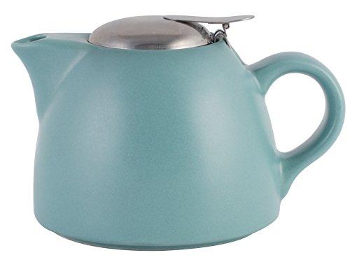La Cafetière Barcelona Ceramic Infuser Teapot by Creative Tops, 450 ml (16 fl oz) - Retro Blue