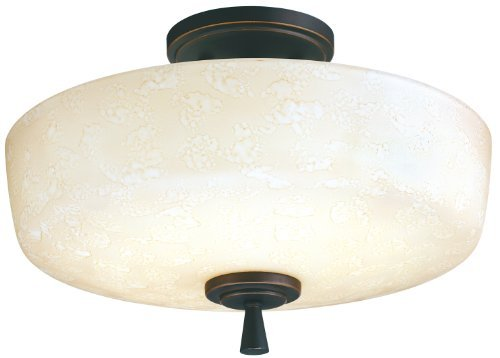 Lithonia Lighting 11530 BZA M4 Ferros Energy Star Flush/Semi-Flush Indoor Light, Antique Bronze by Lithonia Lighting (Antique Bronze Semi Flush)
