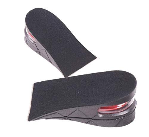 2 Paar 5 cm / 2 inch PVC Farbe Zufällig Unisex Erhöhte Einlegesohlen Doppelschicht Einstellbare Höhe Erhöhen Pads Schuh Ferseneinsätze Luftkissen Höhere Aufzüge für Erhöhung -