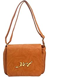 DCenterprises Women's Handbag/Shoulder Bag/Sling Bag Material- Synthetic Leather Color Brown