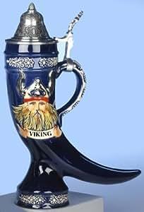 Traditionnel Chope à Bière Allemand- Relief Corne Viking 0,5L