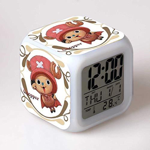 shengying Anime Autour de l'humeur colorée LED Cadeau réveil Couleur réveil créatif 602